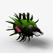 Usine de bactéries de dessin animé 3d model