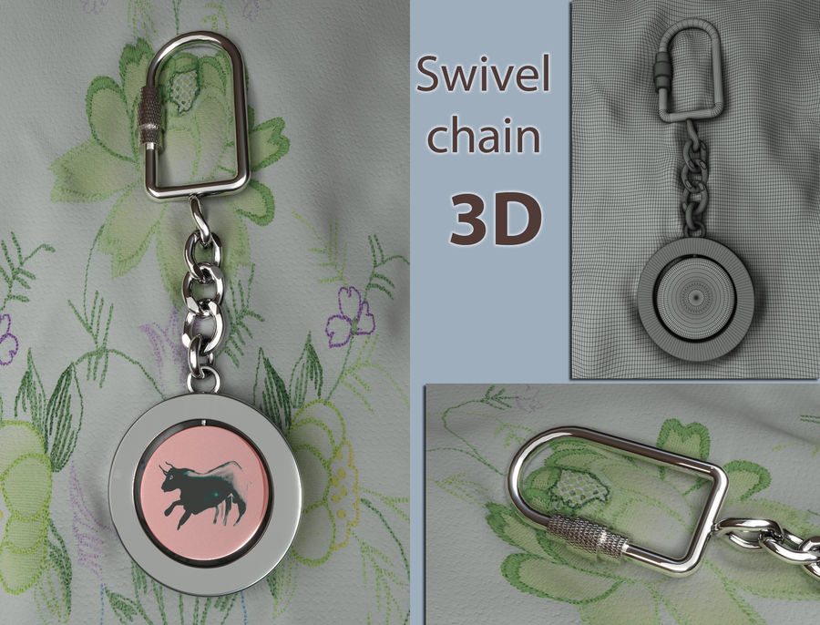 Key Chain & Fob royalty-free 3d model - Preview no. 1