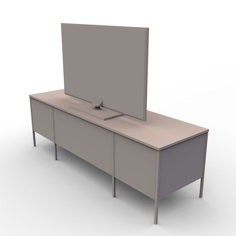 Entertainment Unit and TV royalty-free 3d model - Preview no. 8