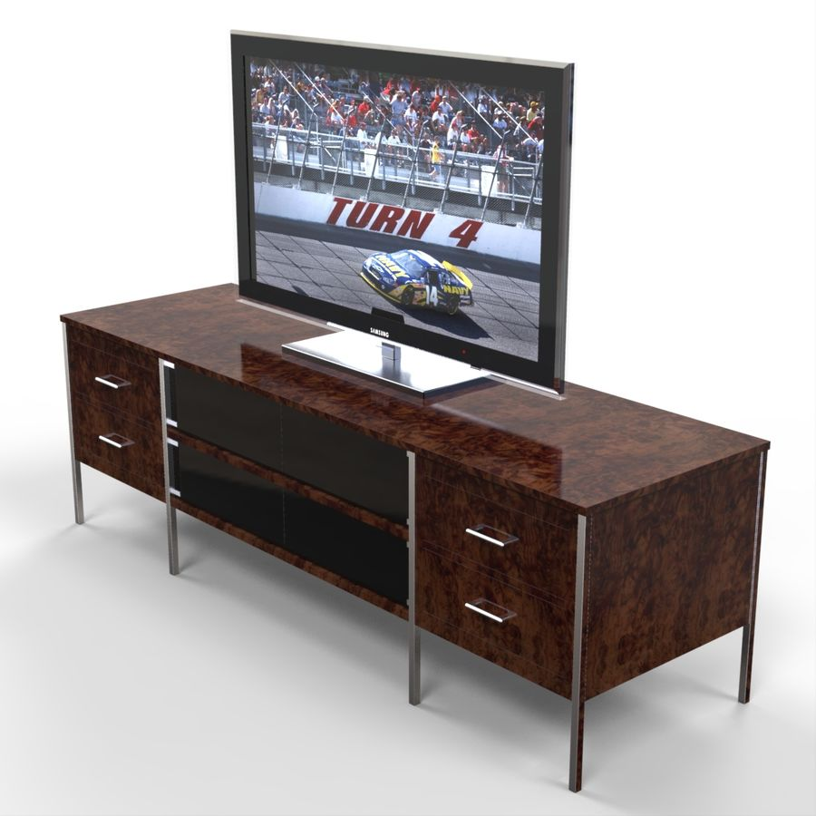 Entertainment Unit and TV royalty-free 3d model - Preview no. 1