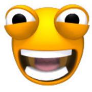 Getuigde en geanimeerde emoticons Smileygezichten 3d model
