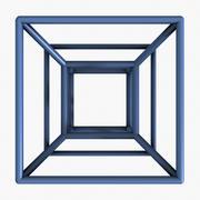 Hypercube 3d model