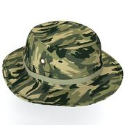 Camo Boonie Military hat 3d model