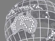 Wire Globe Hexagonal Structure 3d model