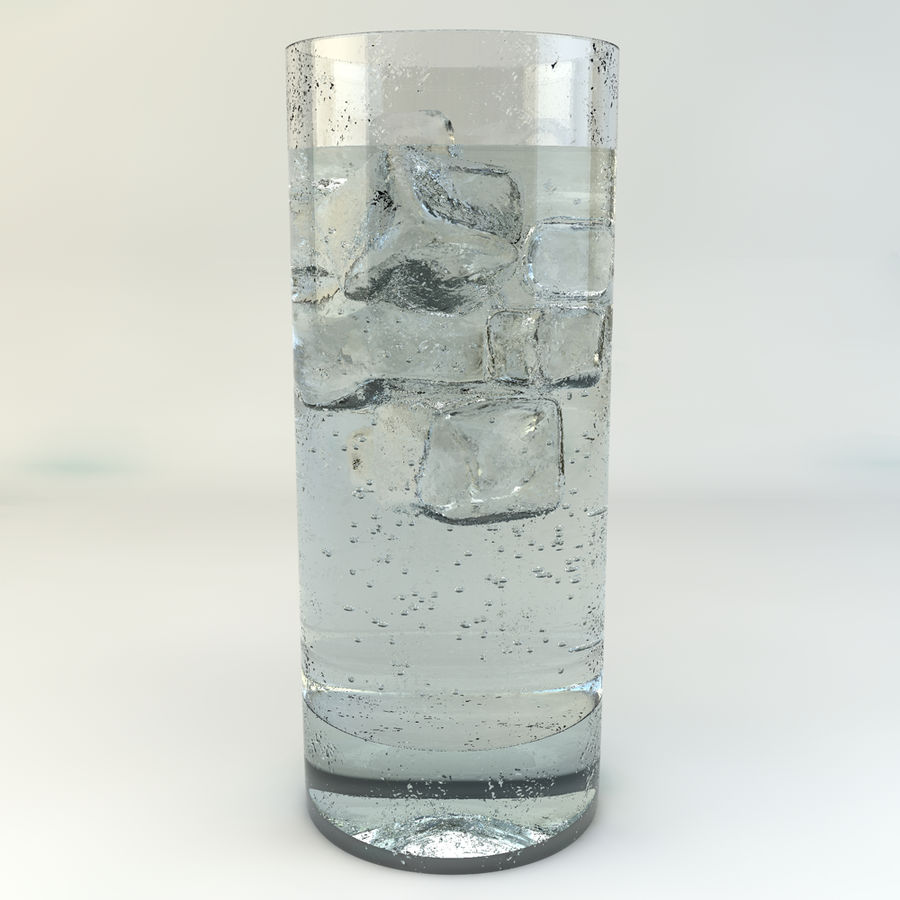 Glass of Chilled Water royalty-free 3d model - Preview no. 2