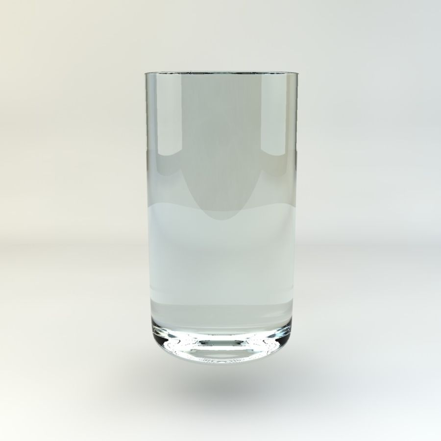 Glass of Chilled Water royalty-free 3d model - Preview no. 4