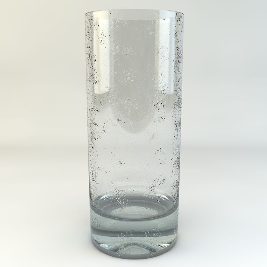 Glass of Chilled Water royalty-free 3d model - Preview no. 3