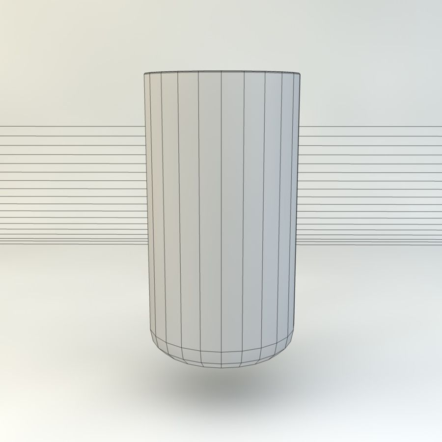Glass of Chilled Water royalty-free 3d model - Preview no. 10