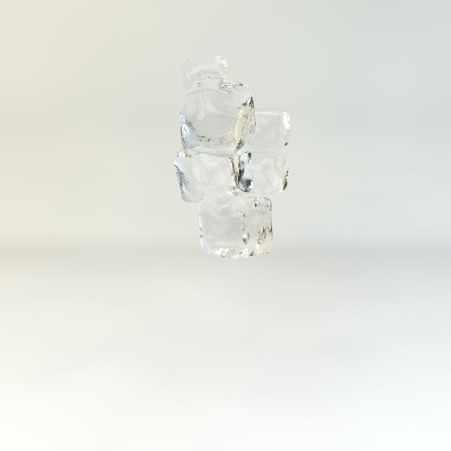 Glass of Chilled Water royalty-free 3d model - Preview no. 6