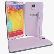 Samsung Galaxy Note 3 Rosa modelo 3d