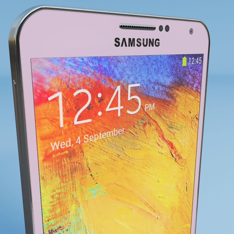 Samsung Galaxy Note 3 Pink royalty-free 3d model - Preview no. 5