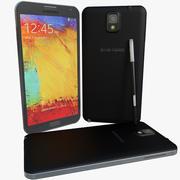 Samsung Galaxy Note 3ブラック 3d model