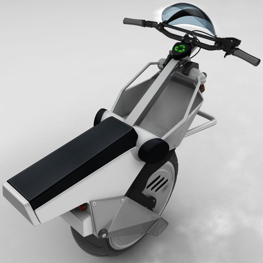 電動一輪車 royalty-free 3d model - Preview no. 4
