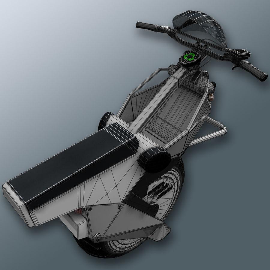 電動一輪車 royalty-free 3d model - Preview no. 8