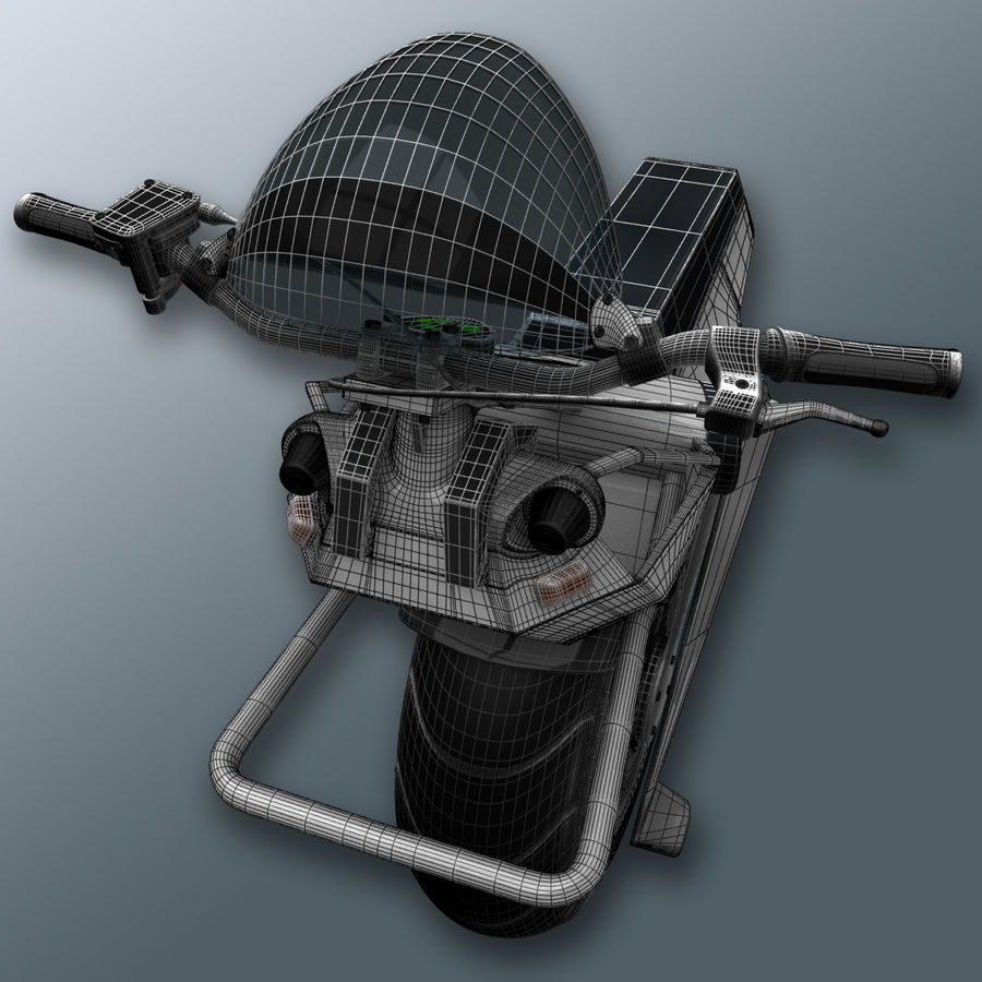 電動一輪車 royalty-free 3d model - Preview no. 12
