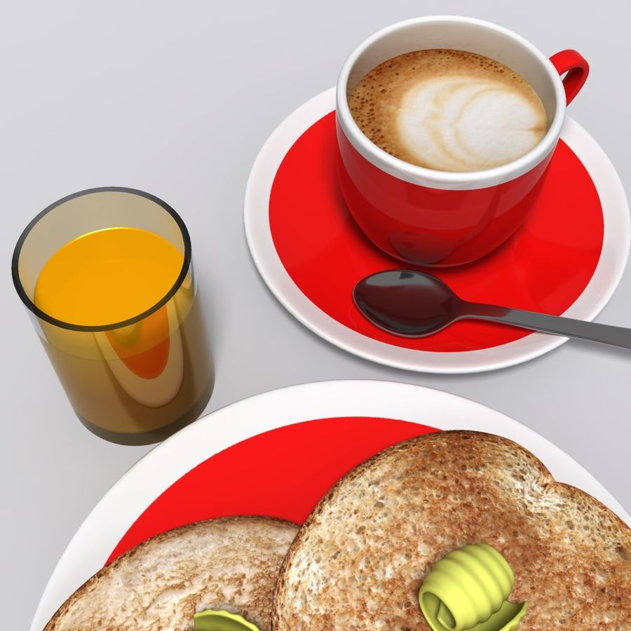 Breakfast royalty-free 3d model - Preview no. 6