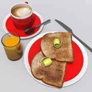 朝ごはん 3d model