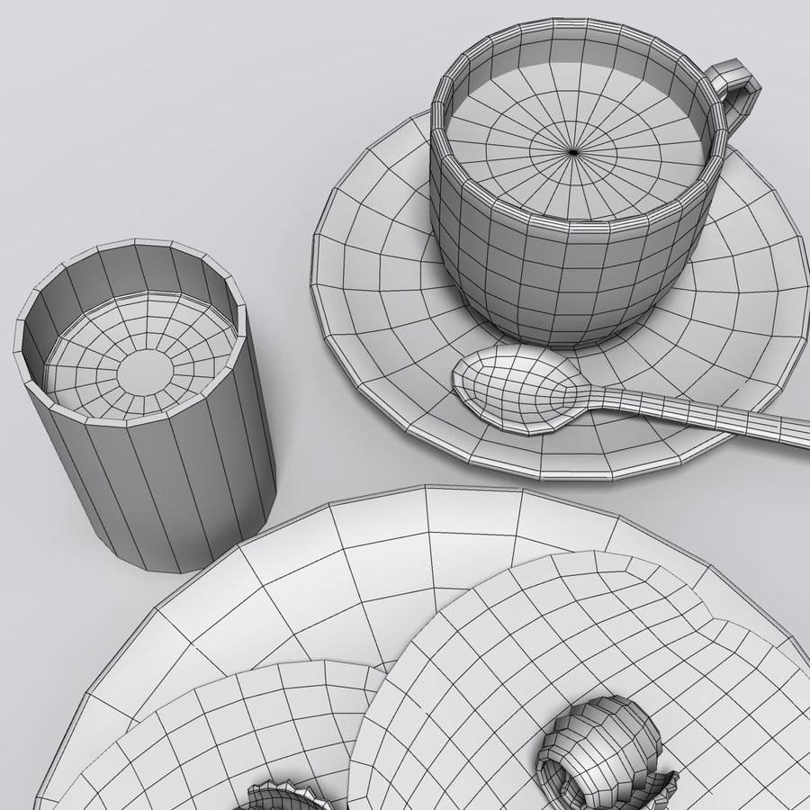 Breakfast royalty-free 3d model - Preview no. 9