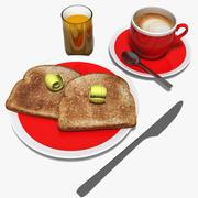 早餐 3d model