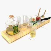 Tequila-buffet 3d model