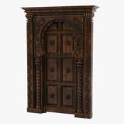 Oriental Door Portal 3d model