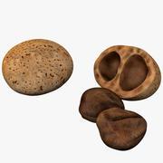 Nueces de mongongo modelo 3d