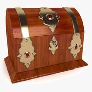 Antieke Engelse koffer 3d model