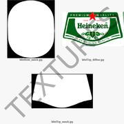 하이네켄 맥주병 3d model