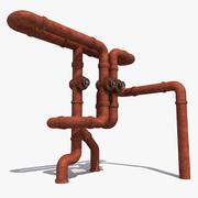 Sistema di tubazioni per costruttori 4 3d model