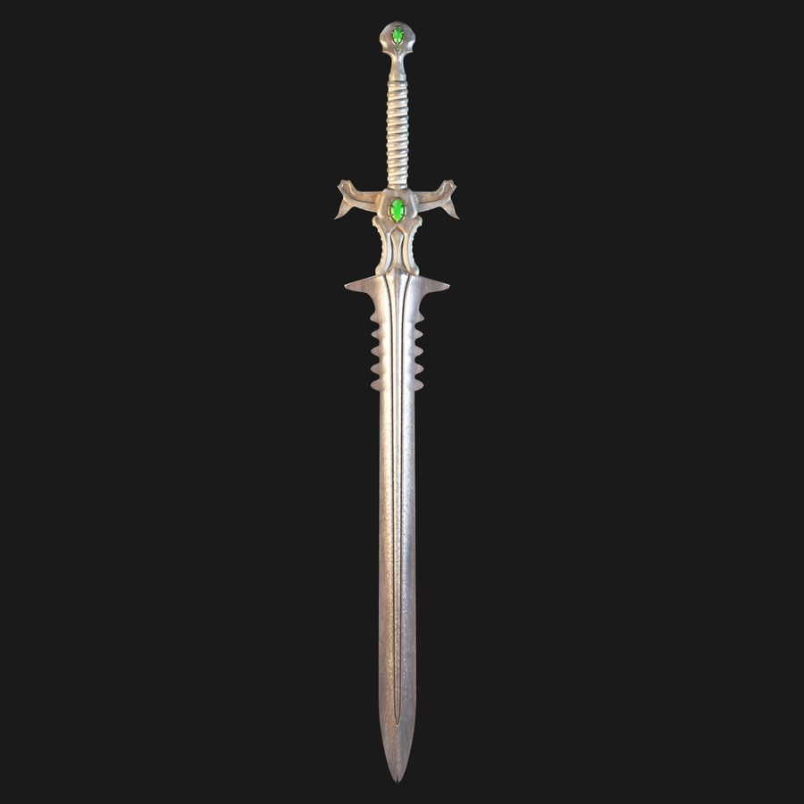 Fantasy Sword royalty-free 3d model - Preview no. 3