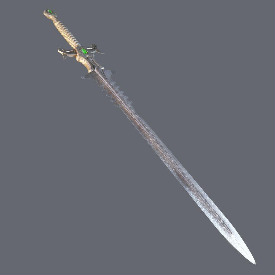 Fantasie zwaard royalty-free 3d model - Preview no. 2