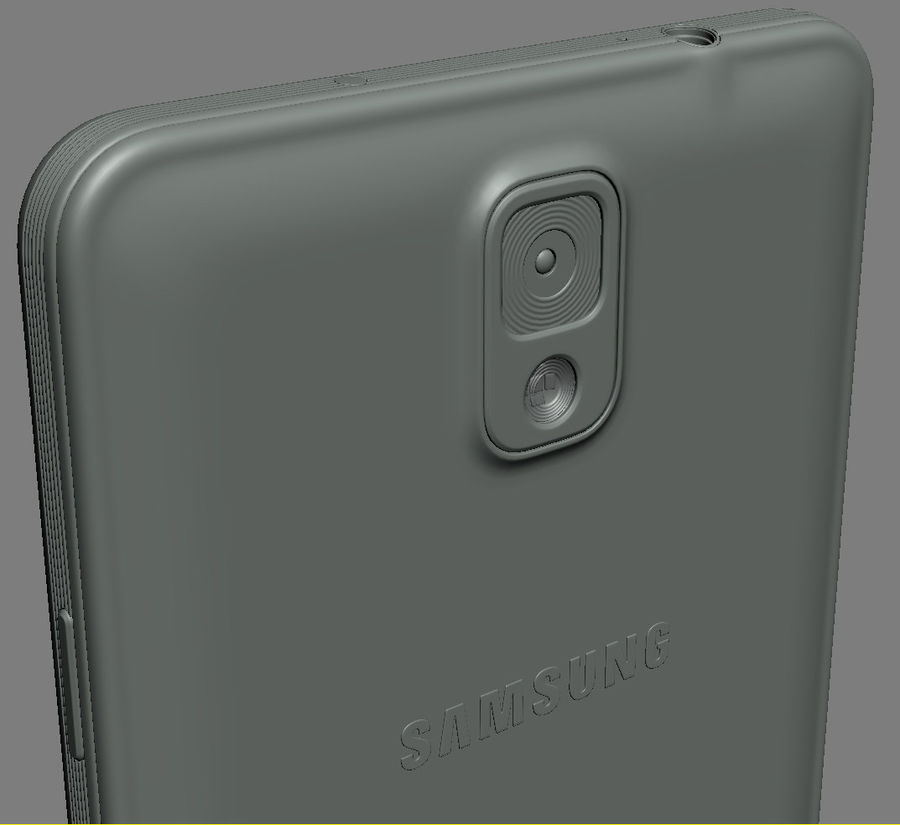 Samsung Galaxy Note 3 royalty-free 3d model - Preview no. 18