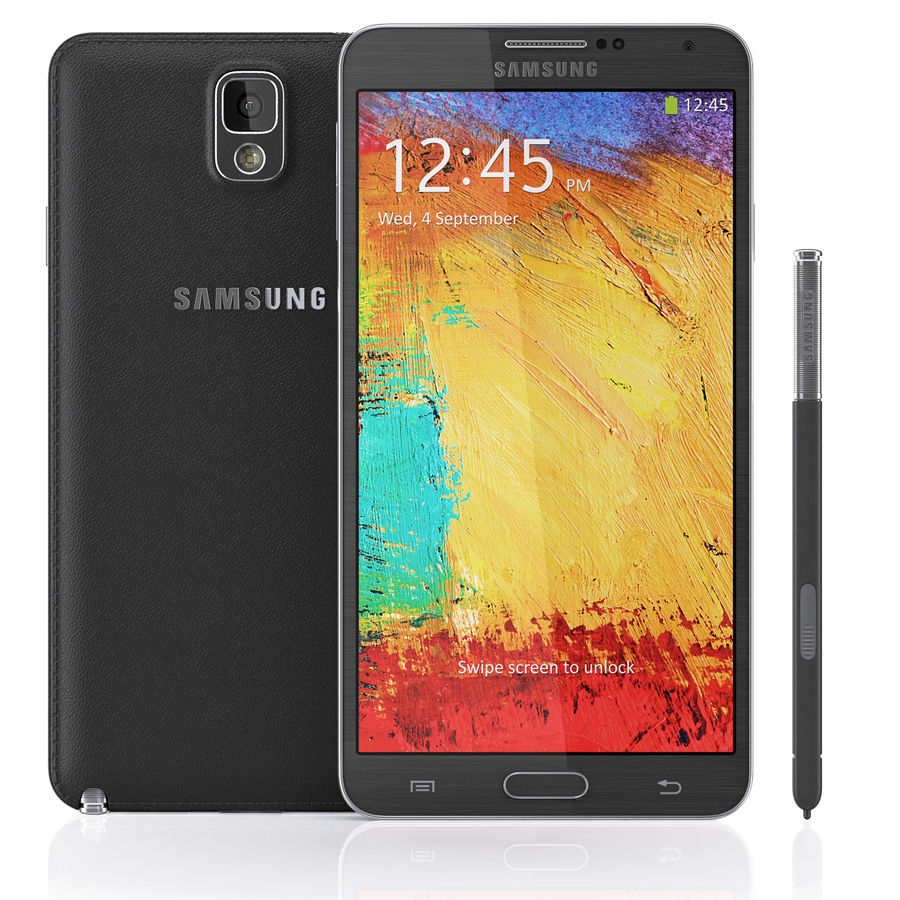 Samsung Galaxy Note 3 royalty-free 3d model - Preview no. 3