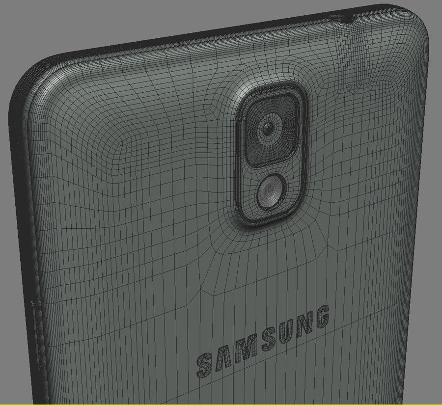 Samsung Galaxy Note 3 royalty-free 3d model - Preview no. 20
