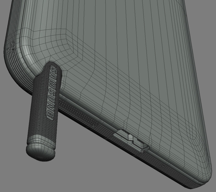 Samsung Galaxy Note 3 royalty-free 3d model - Preview no. 23
