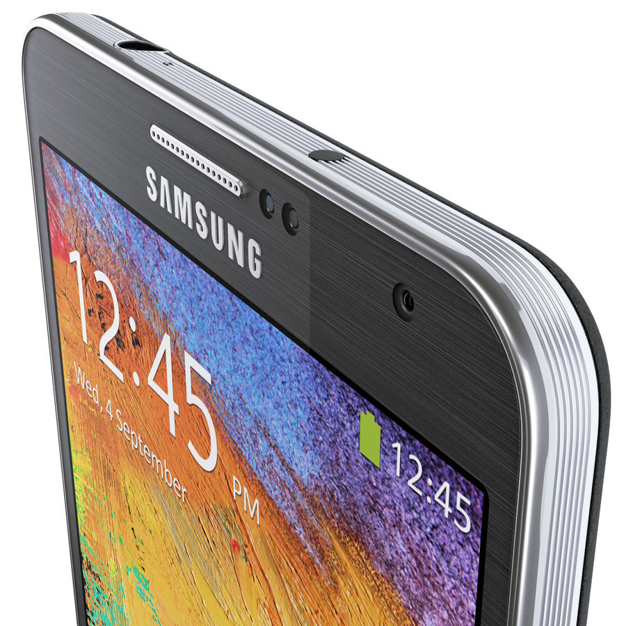Samsung Galaxy Note 3 royalty-free 3d model - Preview no. 16