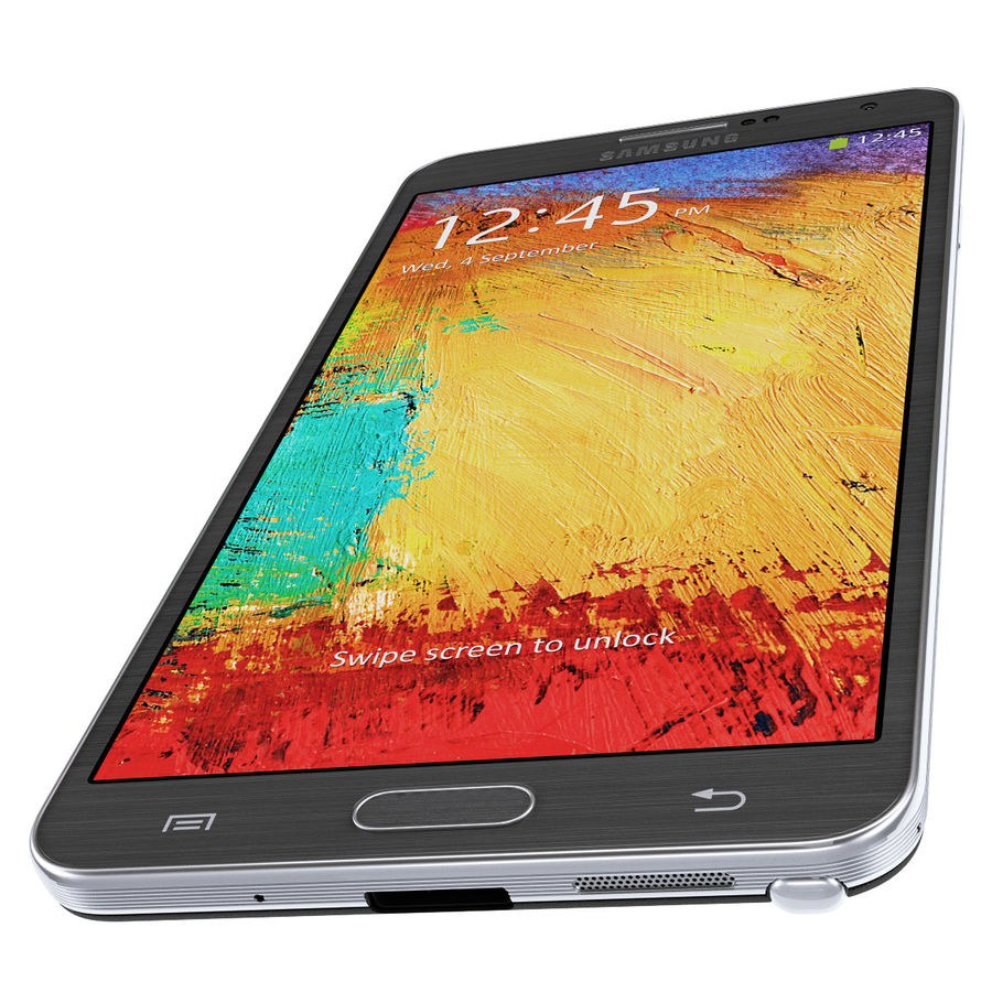 Samsung Galaxy Note 3 royalty-free 3d model - Preview no. 9