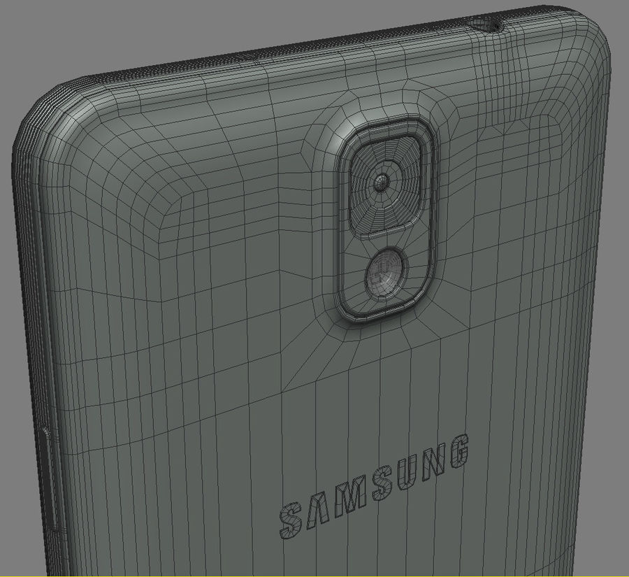 Samsung Galaxy Note 3 royalty-free 3d model - Preview no. 19