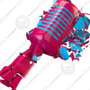 Micrófono destrozado modelo 3d
