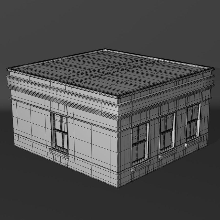Банка royalty-free 3d model - Preview no. 5