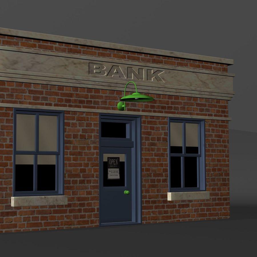 Банка royalty-free 3d model - Preview no. 10