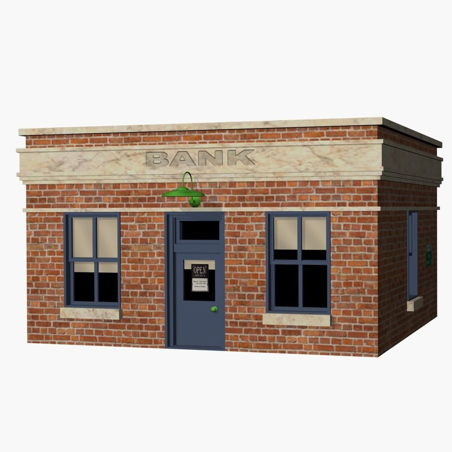 Banque royalty-free 3d model - Preview no. 1