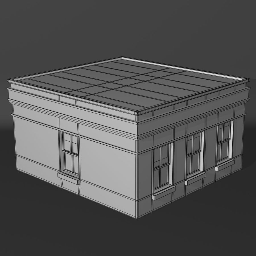 Банка royalty-free 3d model - Preview no. 3