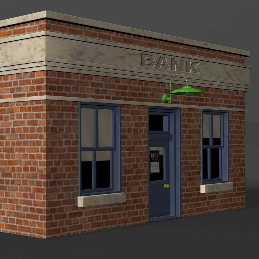 Банка royalty-free 3d model - Preview no. 9