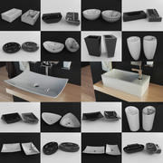 70 Washbasins collection 3d model