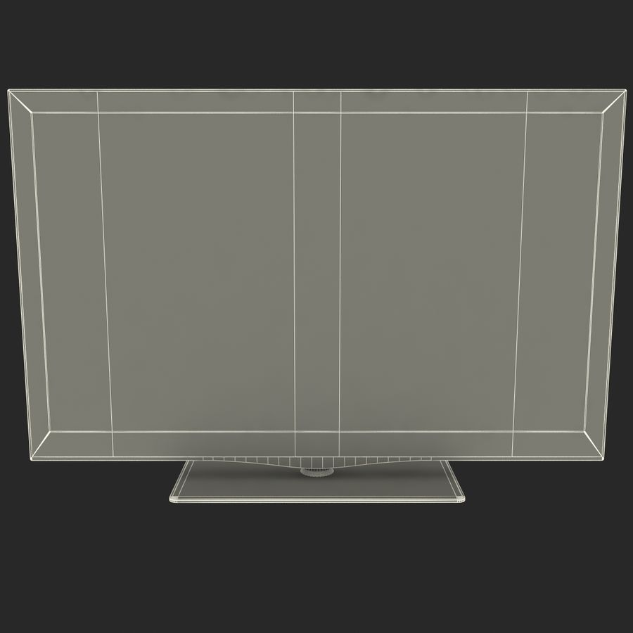 LCD TV Samsung LE46C650L1W royalty-free 3d model - Preview no. 25