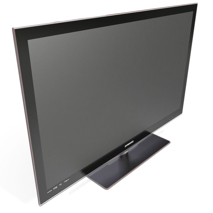 LCD TV Samsung LE46C650L1W royalty-free 3d model - Preview no. 8