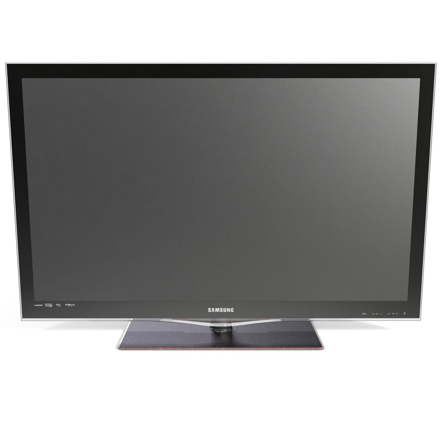 LCD TV Samsung LE46C650L1W royalty-free 3d model - Preview no. 9