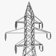 Líneas eléctricas modelo 3d