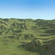Terrain Scottish Hills Mountains 3d model